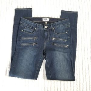 PAIGE Denim EDGEMONT Zipper Skinny Jeans